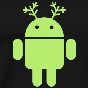 android christmas santa rudolf - Men's Premium T-Shirt