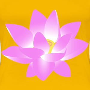 Pink Lotus Flower - Women's Premium T-Shirt