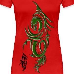 Dragon Green - Women's Premium T-Shirt