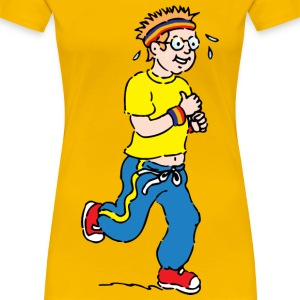 jogging boy - Women's Premium T-Shirt