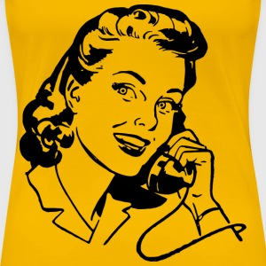 Lady Speaking on Phone - Women's Premium T-Shirt