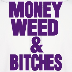 MONEY WEED & BITCHES Hoodies - Men's Hoodie