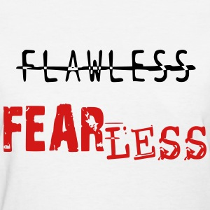 FLAWLESS- White & Red - Women's T-Shirt