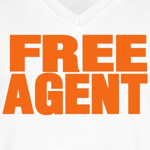 FREE AGENT - Men's V-Neck T-Shirt by Canvas