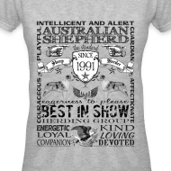 Design ~ Women's Australian Shepherd 'Best in Show' T Shirt