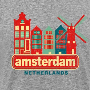Distressed Amsterdam T-Shirts - Men's Premium T-Shirt