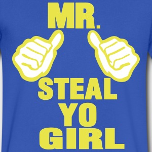 MR. STEAL YO GIRL T-Shirts - Men's V-Neck T-Shirt by Canvas