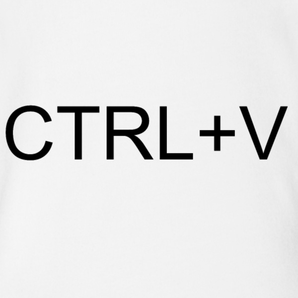 CTRL + V - Short Sleeve Baby Bodysuit