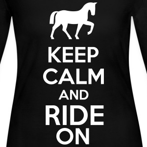 Keep Calm And Ride On Long Sleeve Shirts - Women's Long Sleeve Jersey T-Shirt