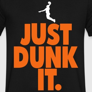 JUST DUNK IT. T-Shirts - Men's V-Neck T-Shirt by Canvas