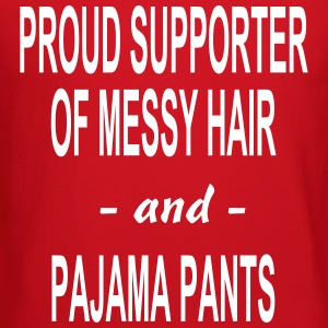 PROUD SUPPORTER OF MESSY HAIR AND PAJAMA PANTS Lon - Crewneck Sweatshirt