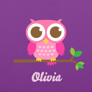 Cute Pink Owl Bags & backpacks - Tote Bag