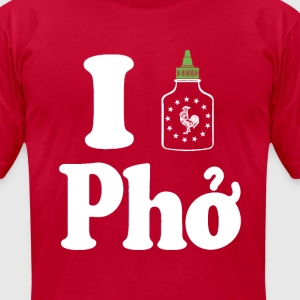 I Love Pho T-Shirts - Men's T-Shirt by American Apparel