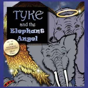 Tyke and the Elephant Angel Ladies Tee - Women's Premium T-Shirt