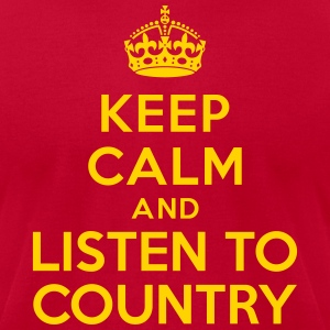 Keep calm listen country T-Shirts - Men's T-Shirt by American Apparel