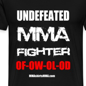 MMA shirts - Undefeated fighter - Men's Premium T-Shirt