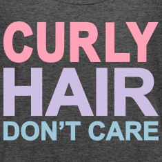 curly hair dont care Tanks