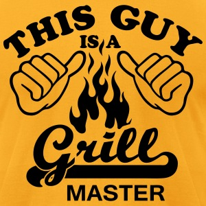this guy is a grill master - Men's T-Shirt by American Apparel