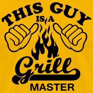 this guy is a grill master - Men's Premium T-Shirt