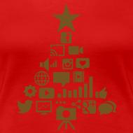 Design ~ Social Blade Glitter Christmas Women's Shirt