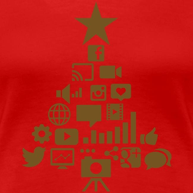 Social Blade Glitter Christmas Women's Shirt