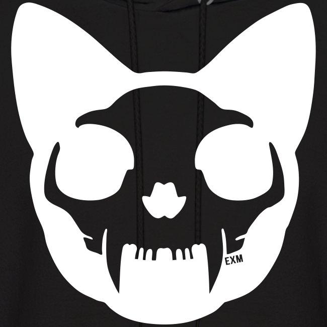 Cat Skull Inverted Hoodie