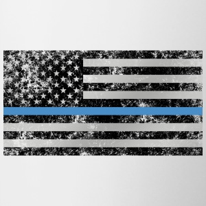 Thin Blue Line American Flag (distressed) - Coffee/Tea Mug