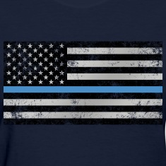 Thin Blue Line American Flag (distressed)