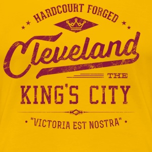 Cleveland King's City (Wine/Gold) Retro Ladies - Women's Premium T-Shirt