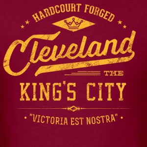 Cleveland King's City (Gold/Wine) Retro Men's - Men's T-Shirt