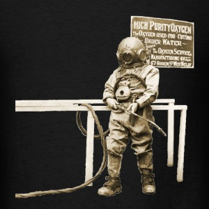 Vintage Diver with Acetylene  Cutting Torch T-Shirts - Men's T-Shirt