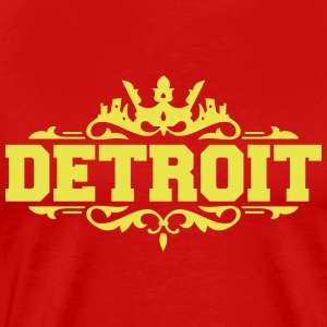 DETROIT michigan usa down with detroit T-Shirts - Men's Premium T-Shirt