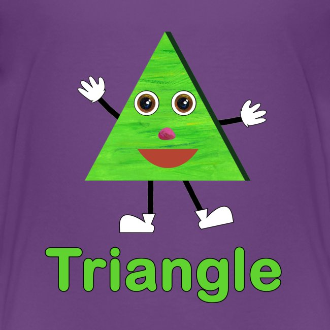 Kids Learning Tablet >> ABCkidTV Store | Shapes Triangle - Kids Premium T-Shirt