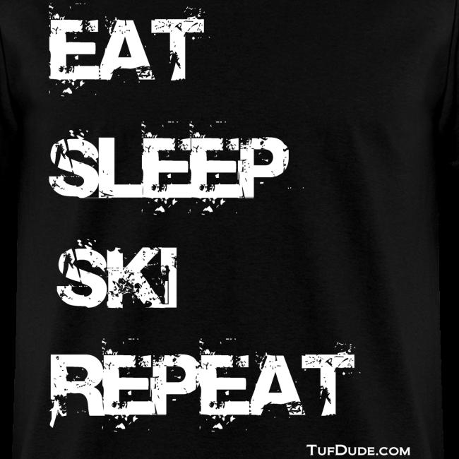 Eat Sleep Ski Repeat wb TD