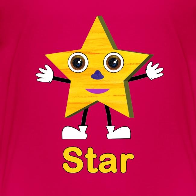 ABCkidTV Store | Shapes Star - Kids Premium T-Shirt