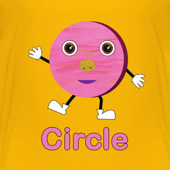 Kids Learning Tablet >> ABCkidTV Store | Shapes Circle - Kids Premium T-Shirt
