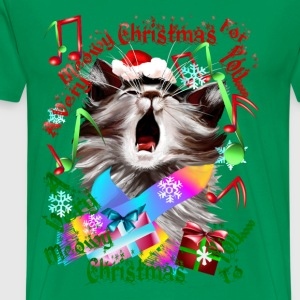 Christmas Carol Kitty - Men's Premium T-Shirt