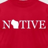 Wisconsin Native T-Shirts - Men's T-Shirt by American Apparel