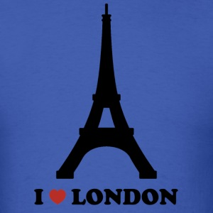 I Love London (Paris) - Men's T-Shirt