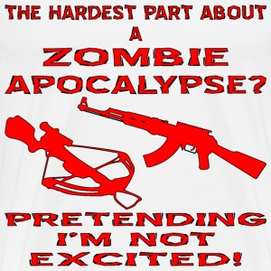 Hardest Part About The Zombie Apocalypse - Men's Premium T-Shirt
