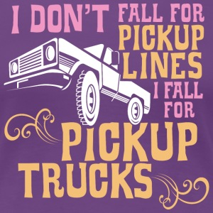 I Fall for Pickup Trucks - Graphic Tee - Women's Premium T-Shirt