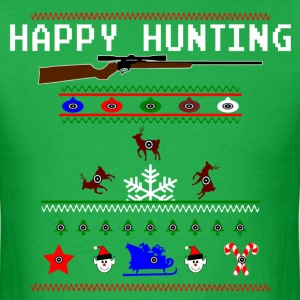 Happy Hunting Ugly Sweater - Men's T-Shirt
