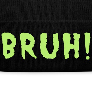 BRUH! Caps - Knit Cap with Cuff Print