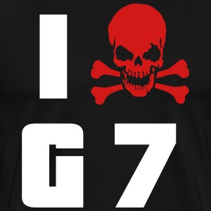 I hate G7 Skull Shirt - Men's Premium T-Shirt