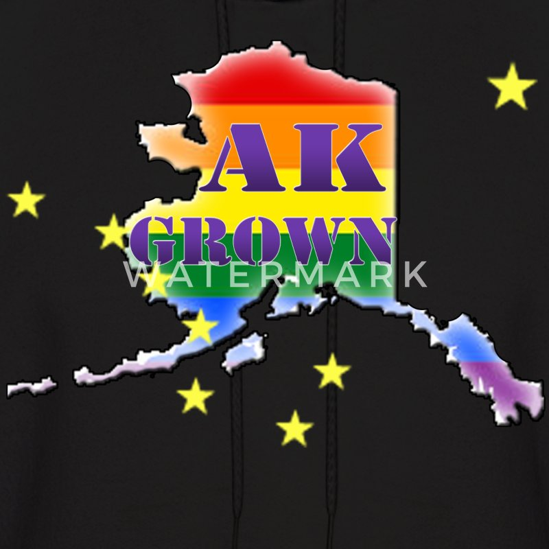 AK Grown Rainbow Hoodies - Men's Hoodie