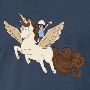 Bob's Burgers Caffeinated Tina on Winged Coffee Pe - Men's Premium T-Shirt