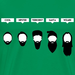 Beard Chart - Men's Premium T-Shirt