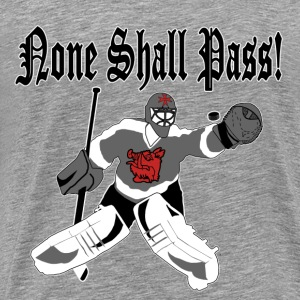 None Shall Pass - grey t-shirt - Men's Premium T-Shirt
