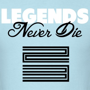 Legends Never Die Retro 11 Blue Shirt T-Shirts - Men's T-Shirt