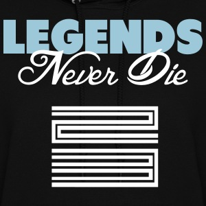 Legends Never Die Retro 11 Blue Shirt Hoodies - Women's Hoodie